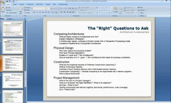 How to Interview a Software Architect II Part 2