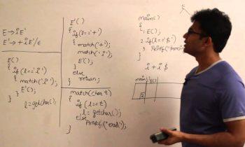 Compiler Design Lecture 8 — Recursive descent parser