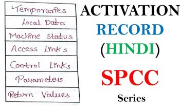 Activation Records in Compiler Design in Hindi | Compiler Design Gate Tutorials