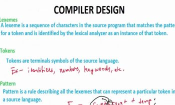 Lexemes, Tokens, Pattern, Symbol Table | Definitions | Compiler Design