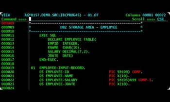 IBM MVS 3.8 – Editing, compiling and executing a Cobol program – M2