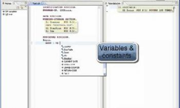Cobol Editor with Code Completion in Eclipse with NXTware Remote