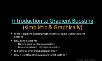Introduction To Gradient Boosting algorithm (simplistic n graphical) – Machine Learning