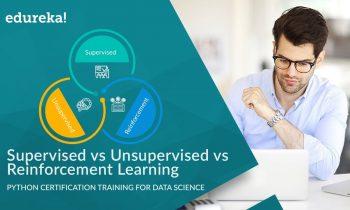 Supervised vs Unsupervised vs Reinforcement Learning | Data Science Certification Training | Edureka