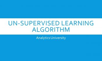 Unsupervised Algorithms in Machine Learning