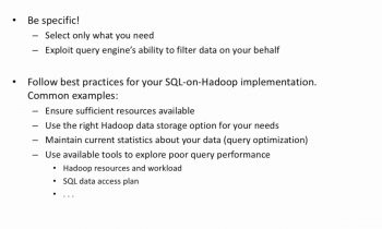 SQL on Hadoop:  Querying Tables (Data-X Project)