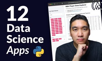 Build 12 Data Science Apps with Python and Streamlit – Full Course