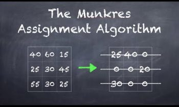 The Munkres Assignment Algorithm (Hungarian Algorithm)