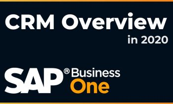 A High-Level Overview of the CRM Capabilities of SAP Business One in 2020