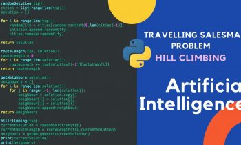 Travelling Salesman Problem using Hill Climbing in Python   Artificial Intelligence